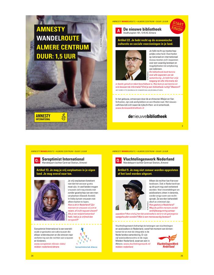 Amnesty weg van de mensenrechten Almere (binnenwerk)