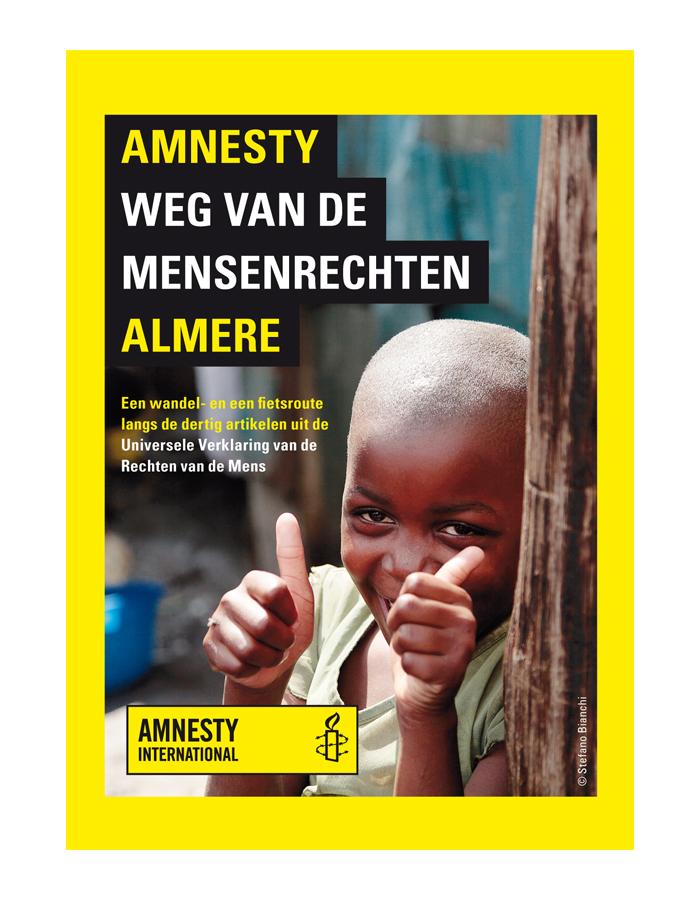Amnesty weg van de mensenrechten Almere (omslag)
