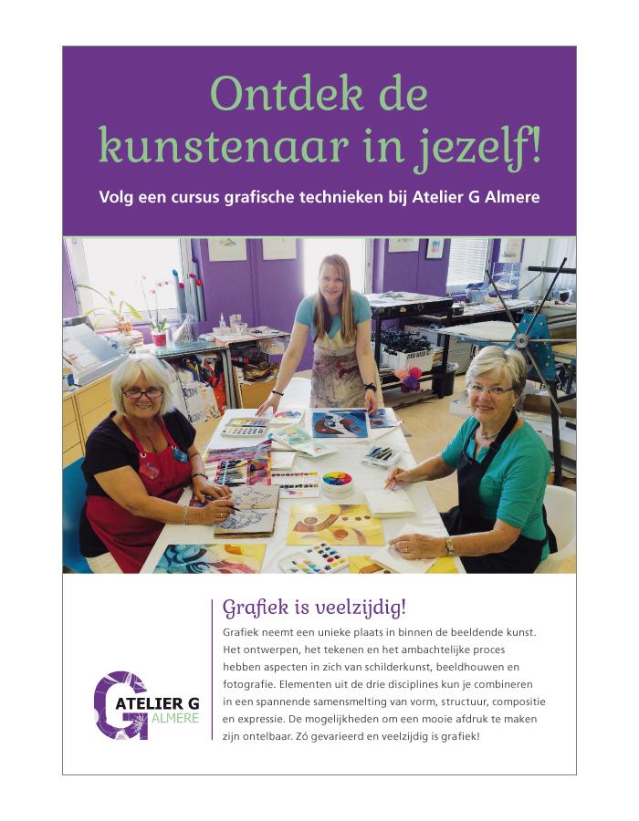 Flyer Atelier G Almere
